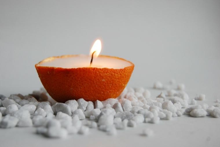 bonita decoracuion cascara naranja