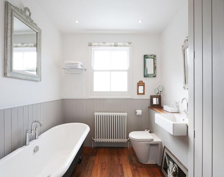 bonito baño estilo retro