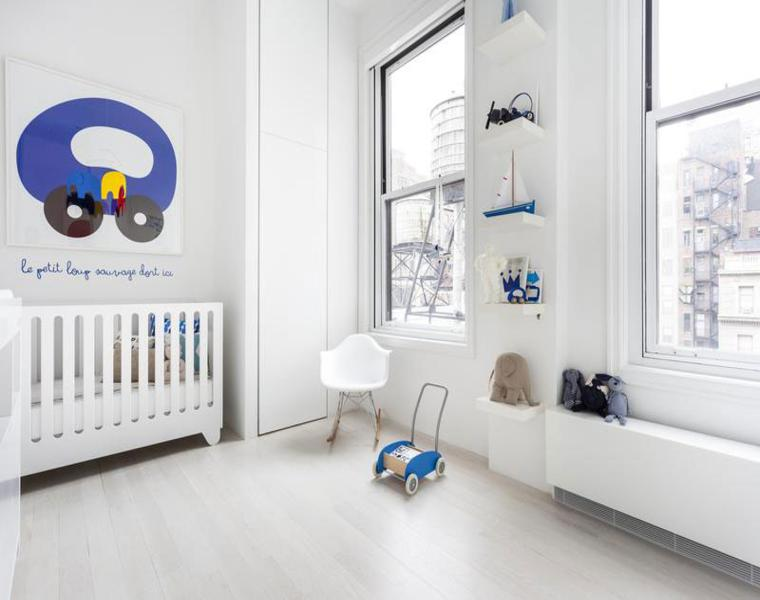 bonito dormitorio infantil blanco