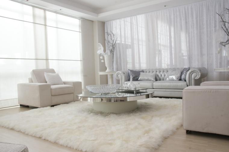 bonito salón lujoso color blanco