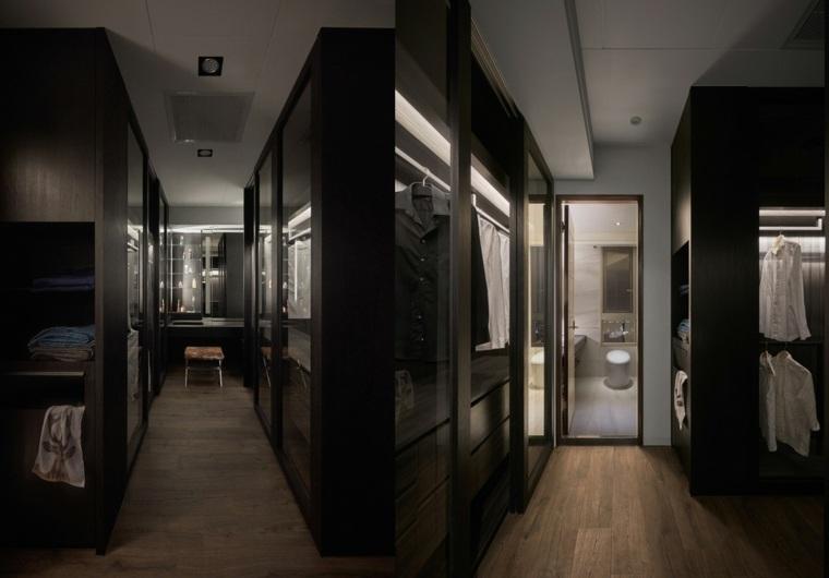 Baño Vestidor Diseno: este vestidor y baño principal encarnan un estilo oscuro y clásico