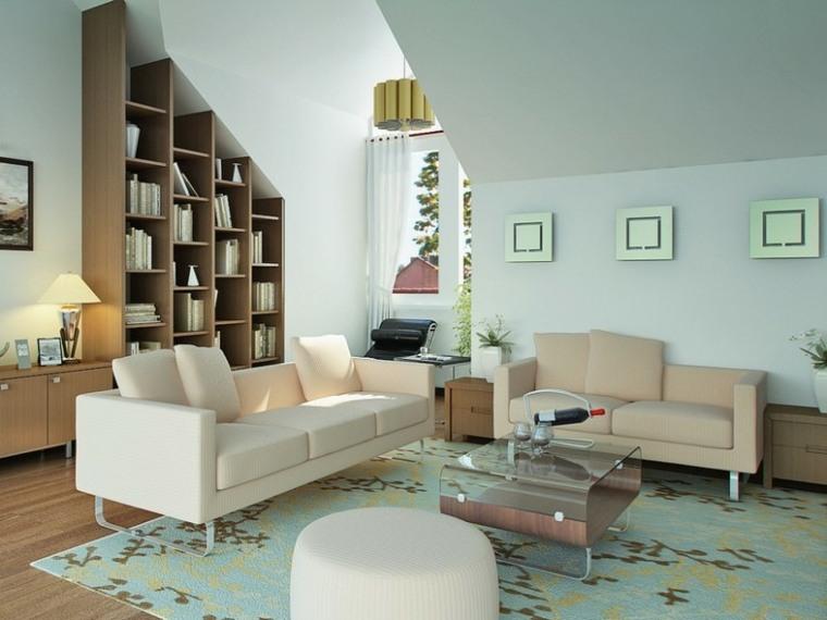 bonito salón biblioteca pequeña