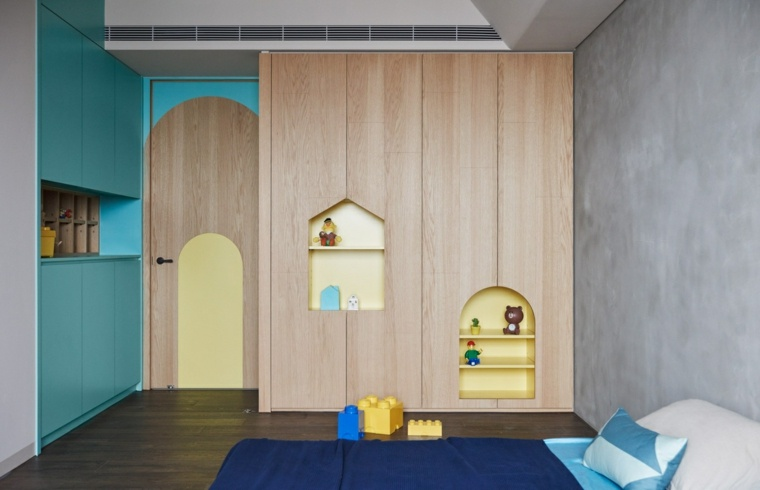 bonitos muebles modernos cuarto infantil
