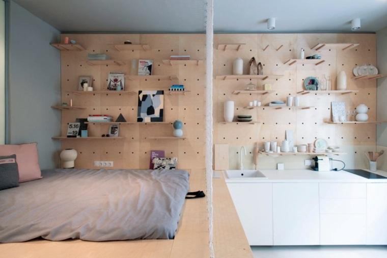 camas estantes sillones accesorios muebles