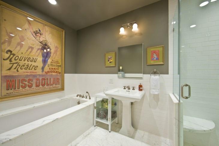 carteles encantador efectos baños cuadros