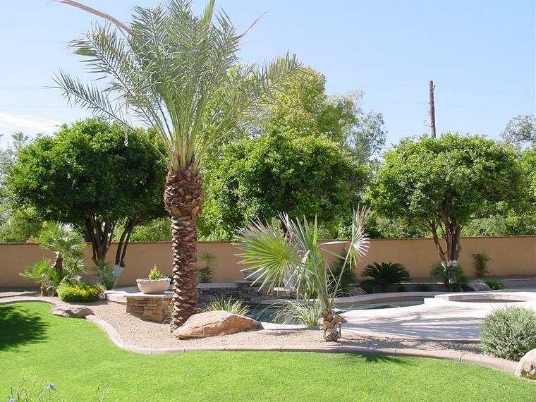 casa jardín diseno contemporaneo arboles cesped ideas