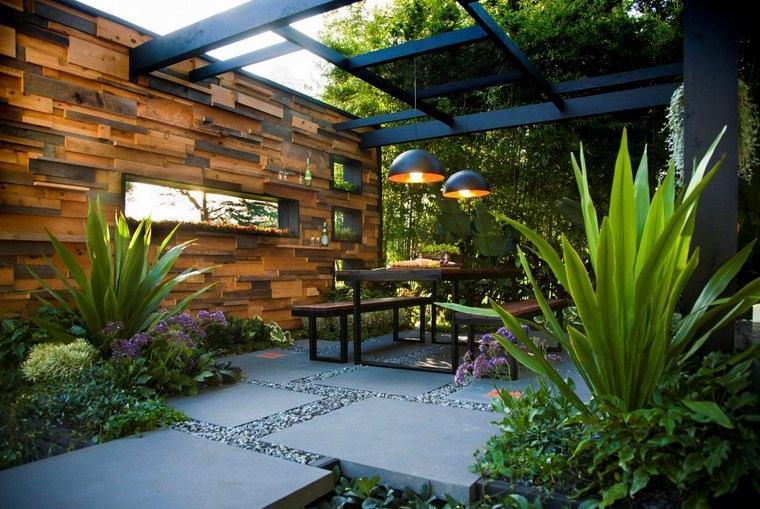 casa jardín diseno contemporaneo lugar comidas ideas