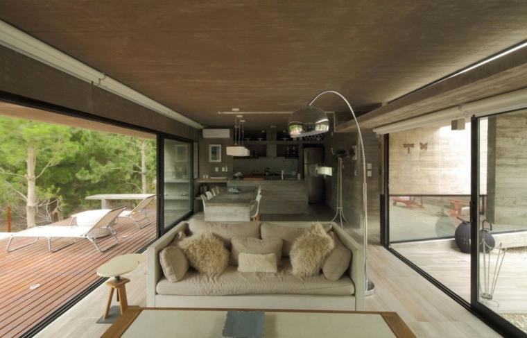 casa lujo residencia salon estrecho abierto cocina ideas