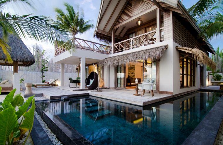 casa moderna jardin romantico piscina ideas