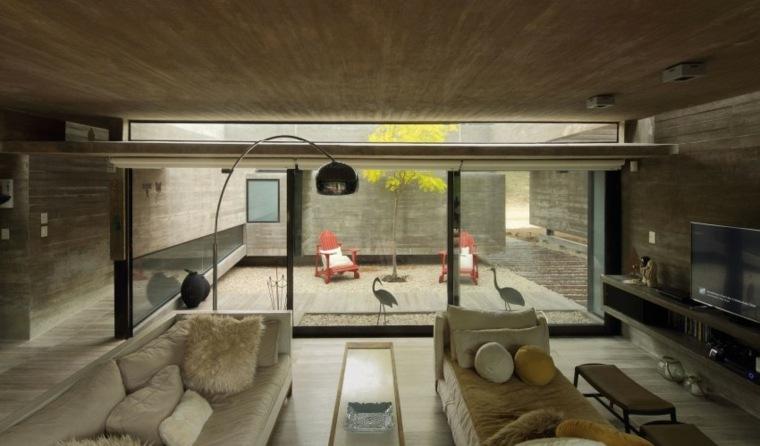 casas lujosas residencia salon abierto jardin ideas