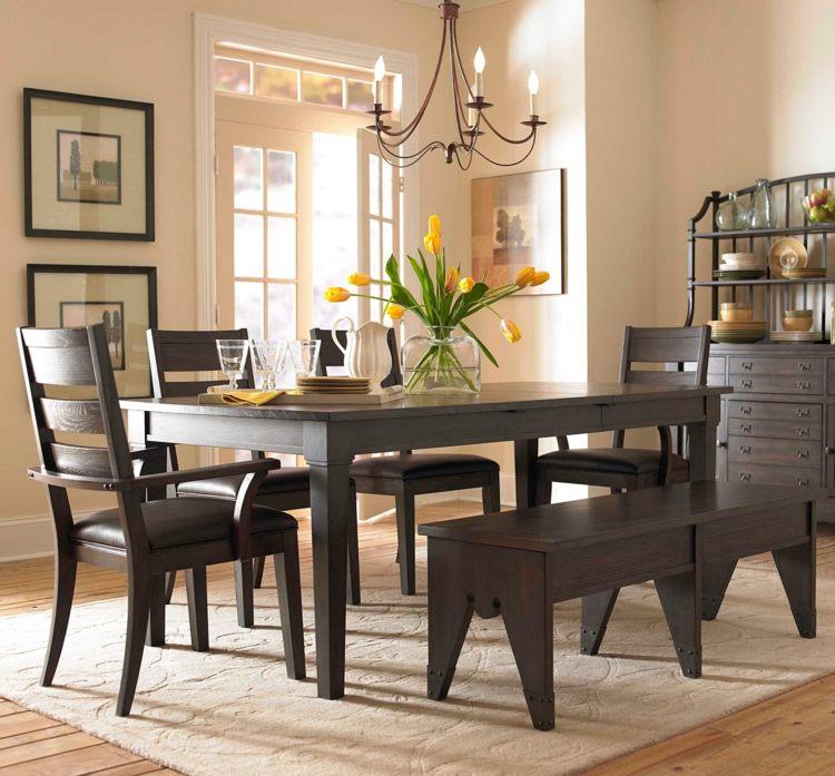 delimita el espacio del comedor con una alfombra. centros de ...