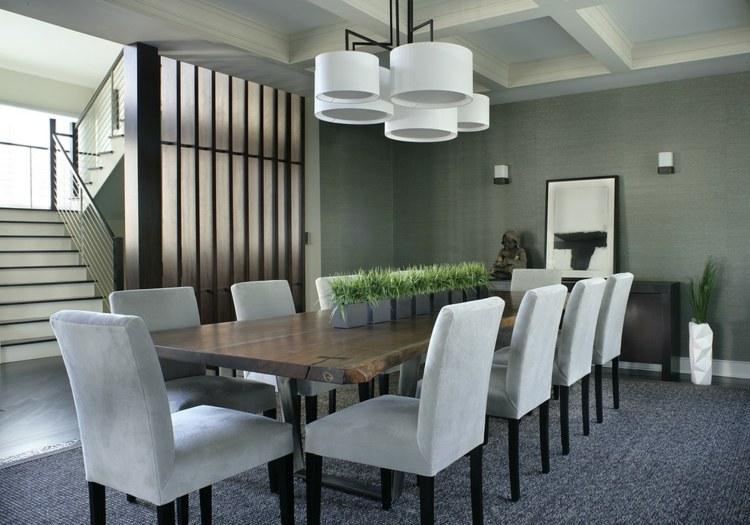 centros de mesa decoracion plantas alargadas lamparas