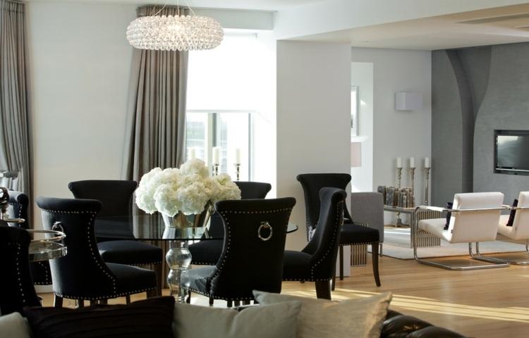 centros de mesa decoracion sillones cuero lineas