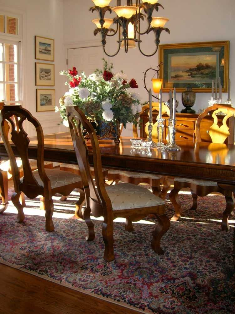 Centros de mesa decoracion elegante para comedores for Pictures of dining room tables decorated
