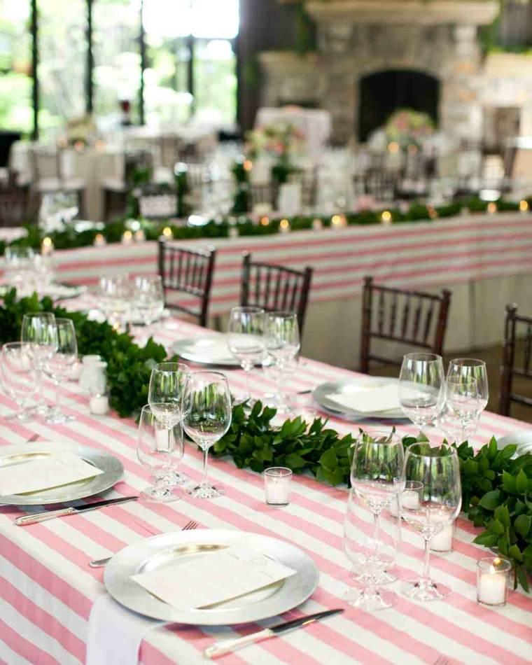centros de mesa sencillos para bodas guirnalda medio mesa ideas