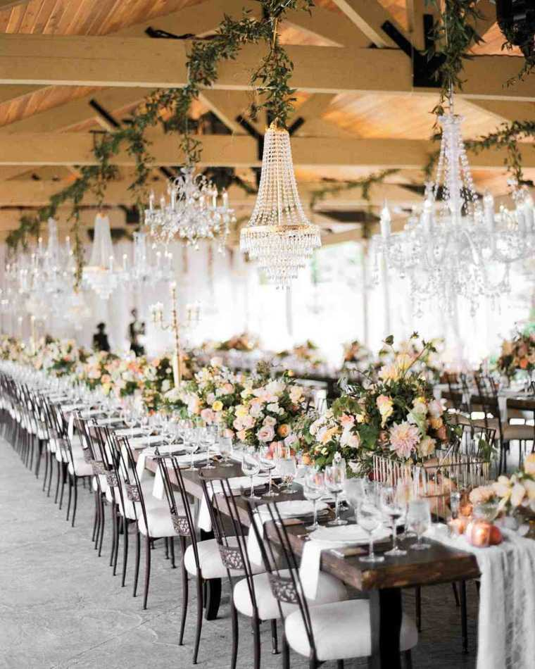 centros de mesa sencillos para boda mesas comidas ideas
