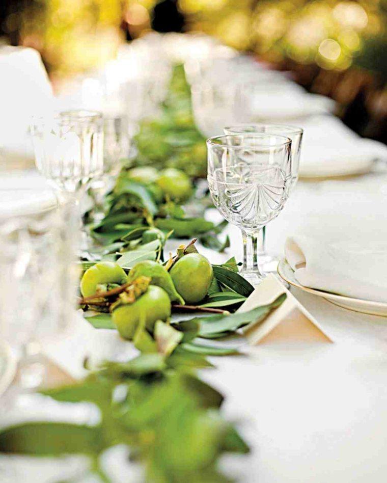 centros de mesa sencillos para boda olivas centro ideas