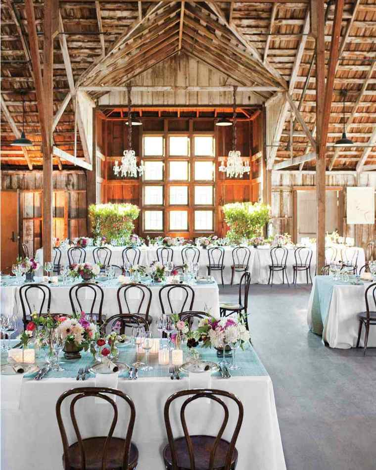centros mesa sencillos boda ramos flores colores ideas