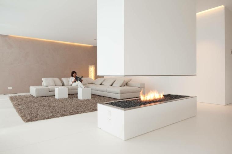 chimenea lujosa color blanco