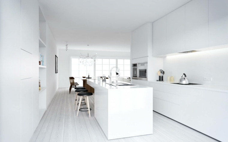 cocina diferente elegantes muebles negro