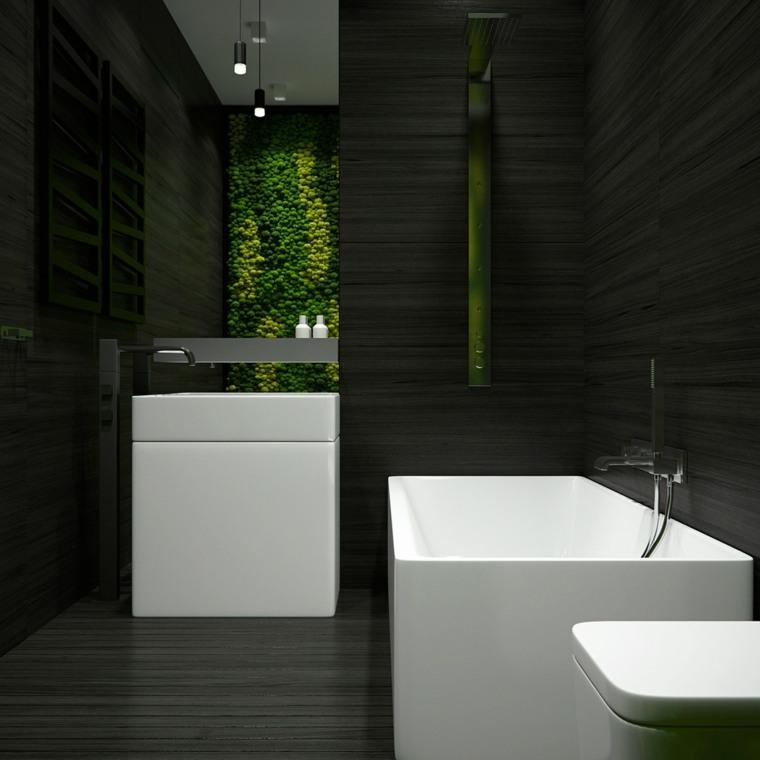 color blanco diseño bañera luces verdes