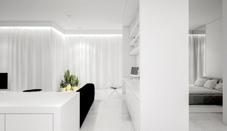color blanco diseño muebles estaciones lineas