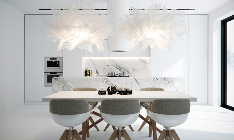 color blanco diseño sillones interiores puentes