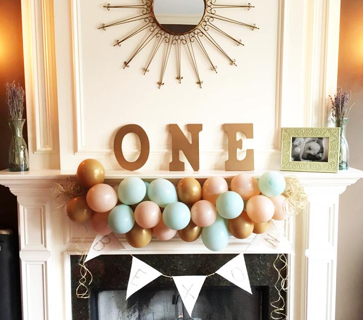 decoracion con globos esquemas fuentes soles