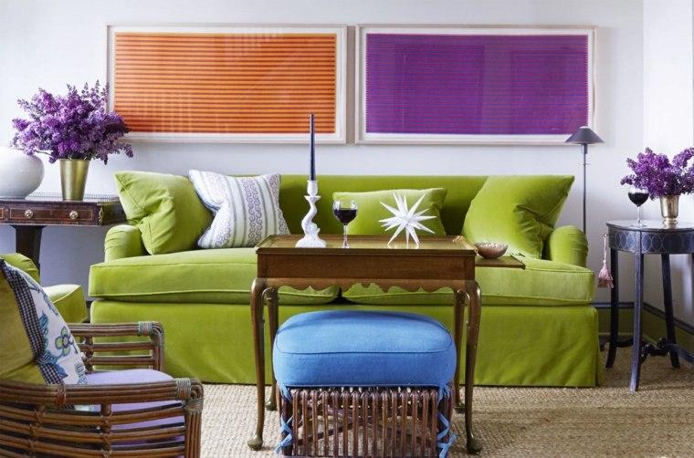 colores pintar salon moderno cuadros llamativos ideas
