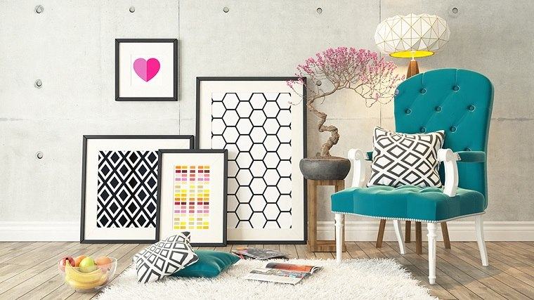 coloridos efectos conceptos muebles espacios