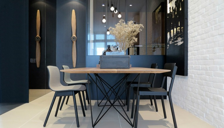 comedor mesa sillas centro mesa diseno vintage ideas