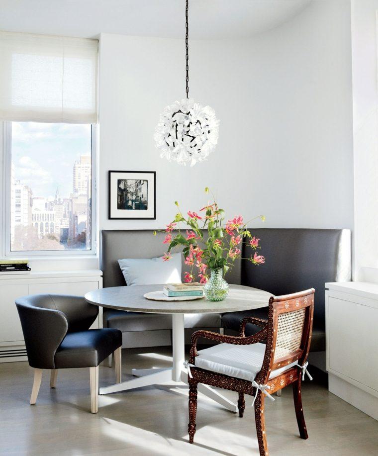 Decorar comedor peque o 55 ideas y consejos for Mesa redonda conforama