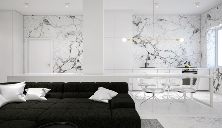 comedores paredes marmol conceptos cojines