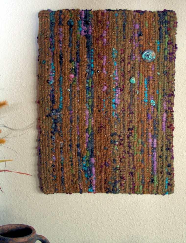 Tapices y decoraciones de pared con textiles 30 ideas for Murales de tela para pared