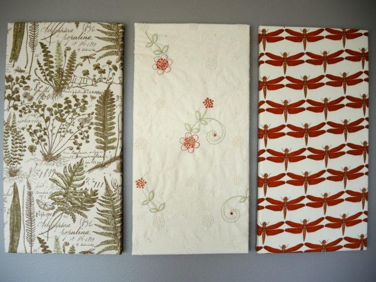 Tapices y decoraciones de pared con textiles 30 ideas - Telas para tapizar paredes ...