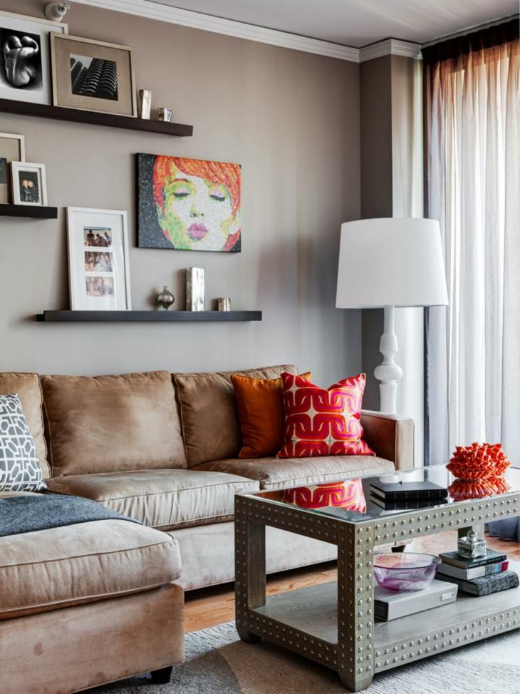 Cuadros para decorar sobre el sof con efectos creativos - Cuadros para decorar salones ...