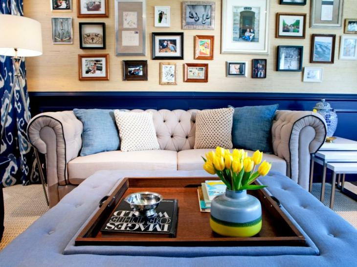 cuadros muebles ideas colores azules diseño