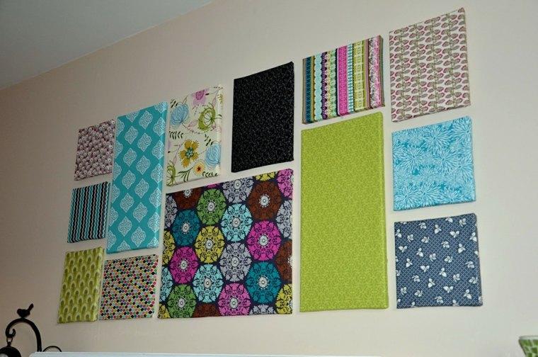 ideas decoración pared telas