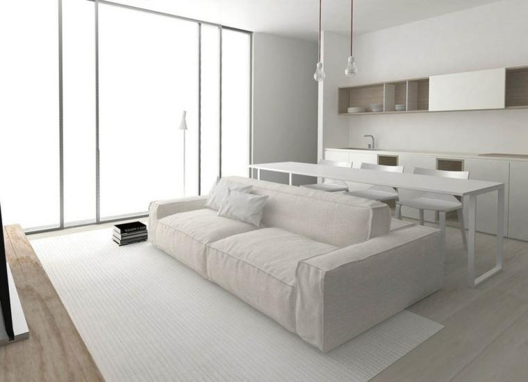 decoración color blanco madera