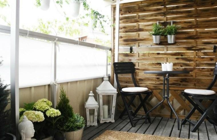 decorar terraza pared madera