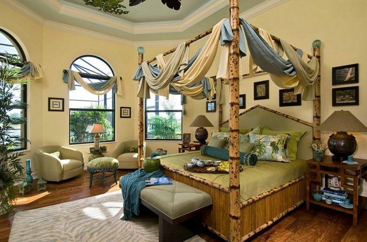 decoracion bambu sillones alfombras plantas
