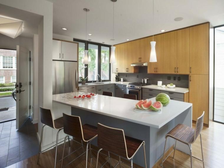 decoracion cocinas americanas muebles clasicos ideas