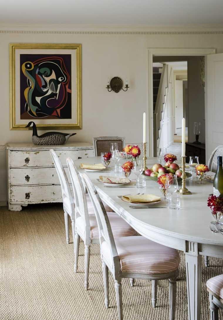 Decorar comedor peque o 55 ideas y consejos - Cuadros vintage para salon ...