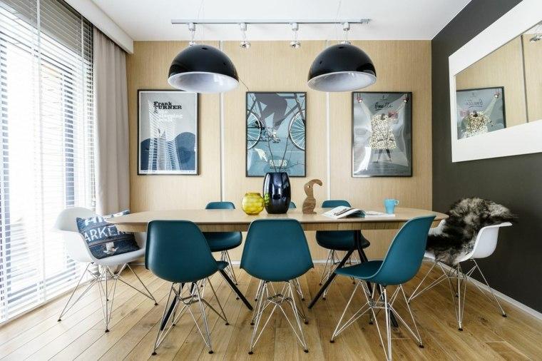 decoracion comedores modernos colorida comedor escandinavo ideas