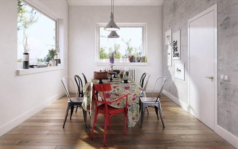Decorar comedor peque o 55 ideas y consejos for Como decorar un living comedor pequeno