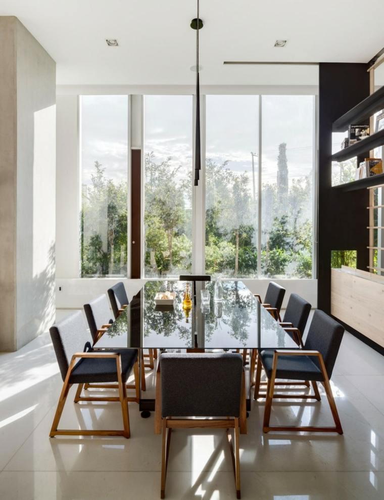 Decorar comedor peque o 55 ideas y consejos for Decorar una mesa de comedor de cristal