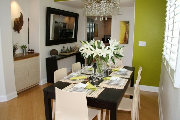 decoracion comedores modernos opciones color pared ideas