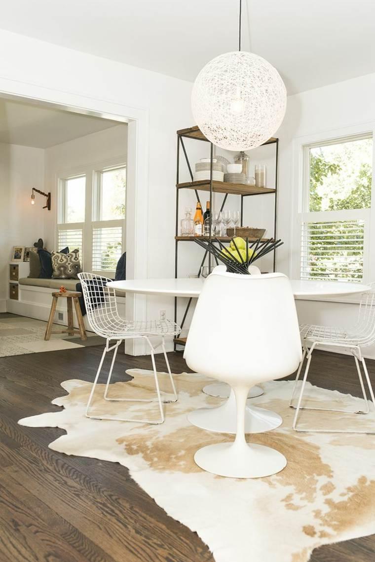 Decorar comedor peque o 55 ideas y consejos for Muebles modernos para comedores pequenos