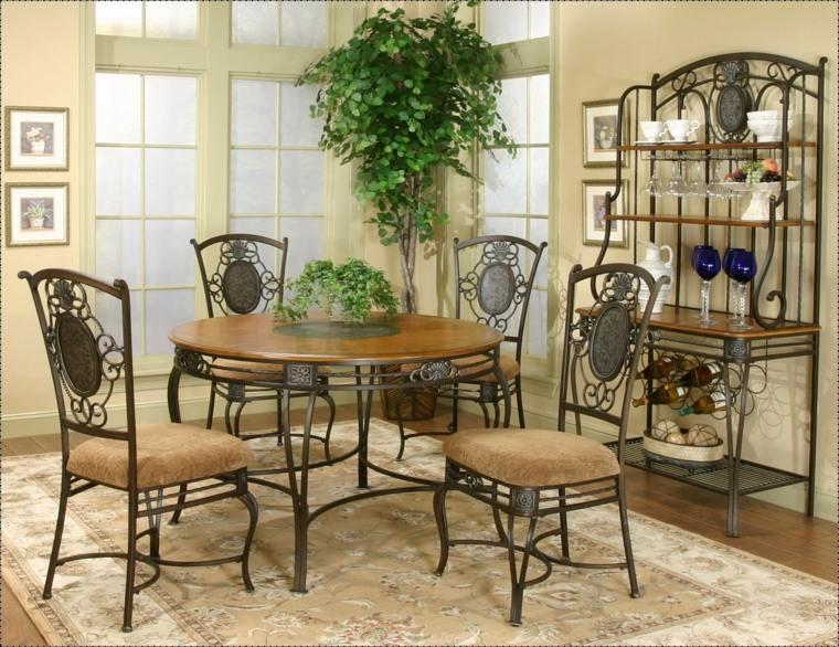decoracion comedores modernos sillas acero estilo victoriano ideas