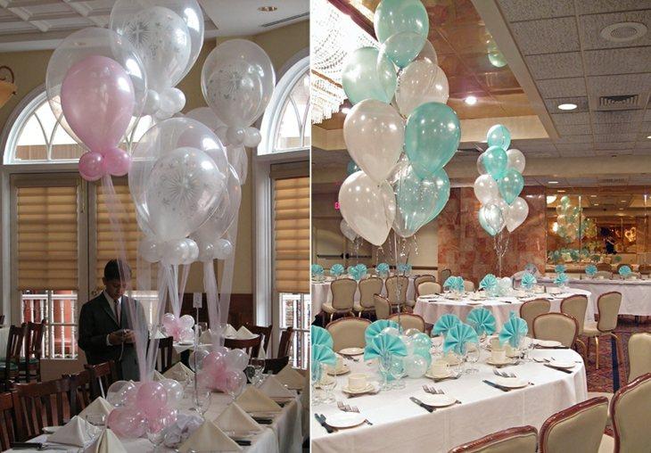 decoracion con globos mesas aspectos dentro